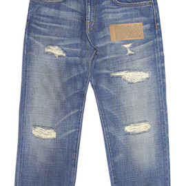 CURRENT/ELLIOTT  - THE BOYFRIEND DENIM  No.1957Super Loved Destroy