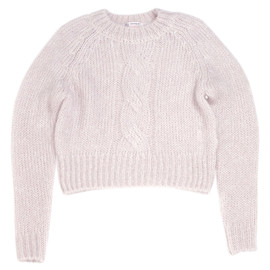Katie - SUGAR KNIT cable sweater GLAY LAVENDER