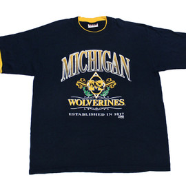 VINTAGE - Vintage 90s Michigan Wolverines Shirt Mens Size XL