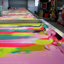 Harvest Textiles - printing at the studio