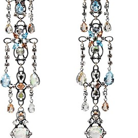 Lanvin - Ginger silver-plated crystal clip earrings