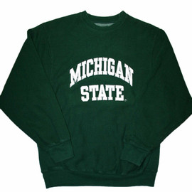 VINTAGE - Vintage 90s Green Michigan State Crewneck Sweatshirt Mens Size Small