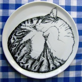 Jimbobart - 'Sleeping Cat' Serving Plate