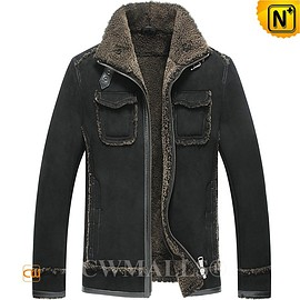 CWMALLS - TURKISH Brand | CWMALLS® Ankara Sheepskin Aviator Jacket CW807643 [Custom Leather Jacket]
