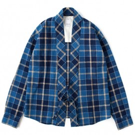 visvim - LHAMO SHIRT CHECK (BLUE CHECK)