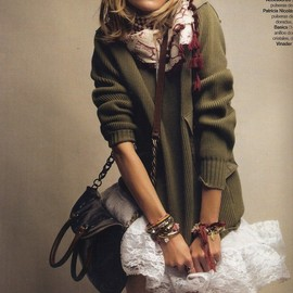 style icon - MODS STYLE/ Anja Rubik by Patrick Demarchelier