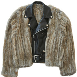 TOGA - Leather Fur Jacket