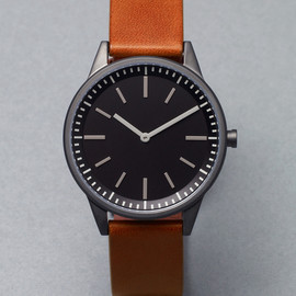 Uniform Wares - 251 Series PVD Gun Grey / Tan Leather