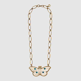GUCCI - Moth pendant necklace