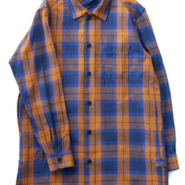 bal - Original Plaid Long Shirt Coat (blue)