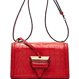 LOEWE - FW2015 Barcelona Shoulder Bag In Red Crocodile