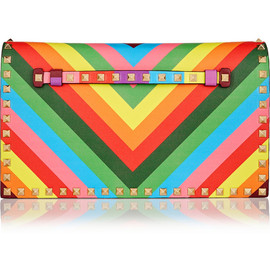 VALENTINO - RESORT2015 The Rockstud printed leather clutch