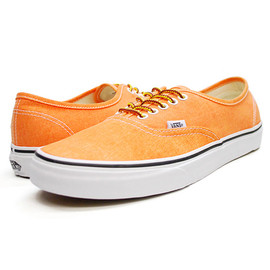 VANS - VANS(バンズ)Authentic VN-0VOEC9D オーセンティック/スニーカー (Washed) Vibrant Orange