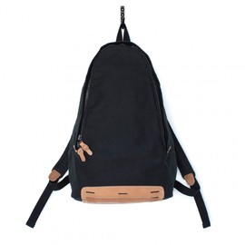 MAKR - Daypack Black Canvas and Natural Horween® HS Leather