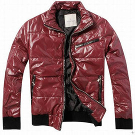 Moncler - Leather Jacket Red Brown