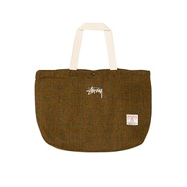 STUSSY, Harris Tweed - Beach Tote - Brown/Off White