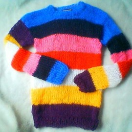 *URBANGURRILLAS* camdenlock clothing by Tomomi.F - Rainbow mohair sweater