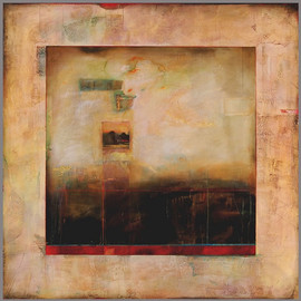 C.W.Slade - Dawning, mixed media on wood