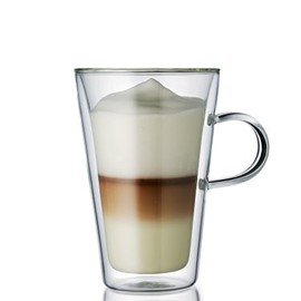 bodum - CANTEEN double wall glass with handle, 0.4L