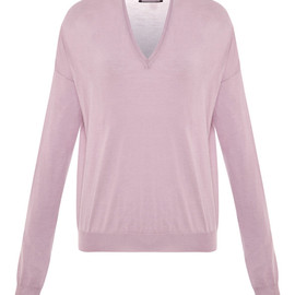 GIAMBATTISTA VALLI - Deep V-Neck Cashmere Sweater