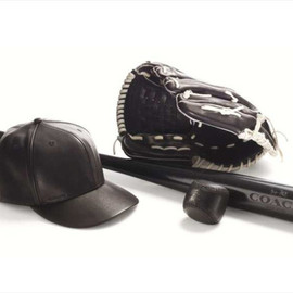 Coach - Leather Baseball Cap Bleecker Baseball Bat Bleecker Baseball Glove