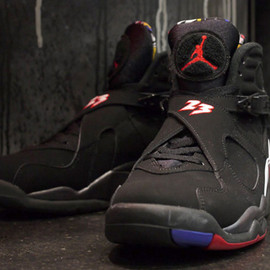 "Nike - NIKE AIR JORDAN VIII RETRO ""MICHAEL JORDAN"" BLK/RED/WHT"