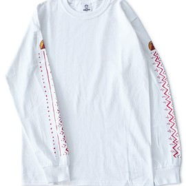 TOGA ODDS&ENDS - Print L/S Tee (white)