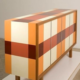 Thomas Wold - Plaid Credenza by Thomas Wold