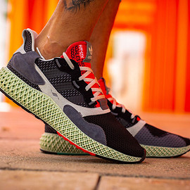 adidas - Torsion ZX 4000 4D - Grey/Core Black/Bold Red/Footwear White?