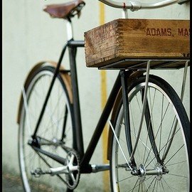 Vintage bicycle with basket (box)