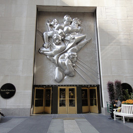 "Isamu Noguchi / イサム・ノグチ - ""NEWS""(Plaque) 1939-40 Associated Press Building (New York)"