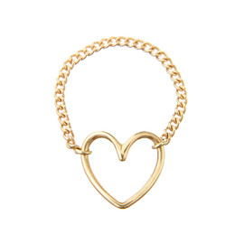 "Enasoluna - Chain ring""Heart"""