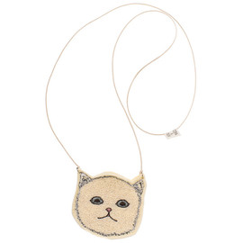 Coral and Tusk - cat pouch necklace