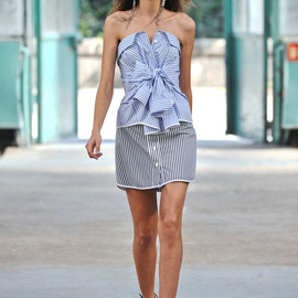 Alexis Mabille - Striped Top and Skirt