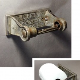 "アメリカン・アンティーク - 1900-1910's ""A.P.W PAPER CO. N.Y."" Iron Toilet Paper Holder"