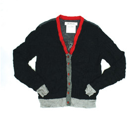 ANREALAGE / アンリアレイジ - RANDOM KNIT CARDIGAN BLACK