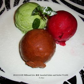 Billboard Live 東京 - Assorted Gelato and Sorbet ¥1,080