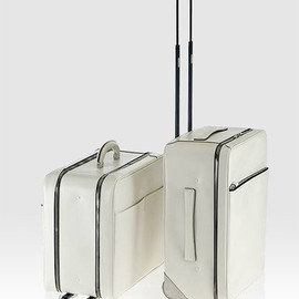 Valextra - White Leather Trolley