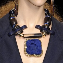 Louis Vuitton - couture jewellery | Spring 2009 blue statement