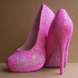 Barbie - Pink Barbie Glittered High Heels