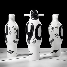 Jaime Hayon - hand-painted vases, BD Barcelona Design (40th birthday celebration)
