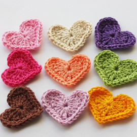 Luulla - Rainbow crochet hearts