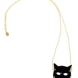 Shoptiques - Gold-Plated Cat Mask Necklace
