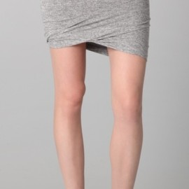 T by Alexander Wang - T by Alexander Wang Marled Ruched Skirt