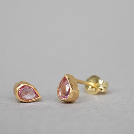 SOURCE - Pear Shape Pink Sapphire Earrings