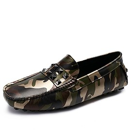 CWMALLS - CWMALLS® Mens Camo Leather Penny Loafers CW706166