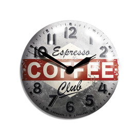 Newgate Clocks - Coffee Advertising Wall Clock