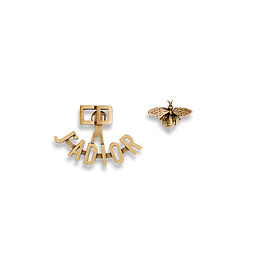 """Christian Dior - SS2017 """"J'ADIOR"""" EARRINGS IN GOLD-TONE FINISH AGED METAL"""