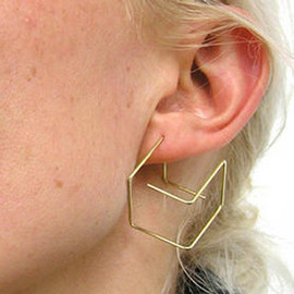 Jiro Kamata - Cube earrings 18ct gold