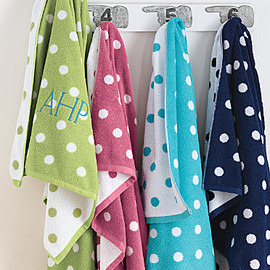 Garnet Hill - Dot to Dot Towels